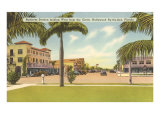 Business District, Hollywood, Florida Giclée-Premiumdruck