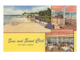 Sun and Sand Club, Key West, Florida Posters