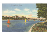 Diversey Harbor, Chicago, Illinois Print