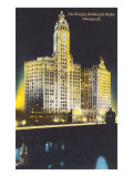 Night, Wrigley Building, Chicago, Illinois Poster