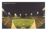 Comiskey Park, Night, Chicago, Illinois Prints