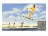 Water Skiers, Cypress Gardens, Florida Posters