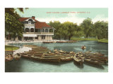 Boat House, Lincoln Park, Chicago, Illinois Poster