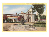 San Luis Rey Mission, California Posters