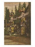 Totem Poles, British Columbia Print