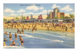 North Avenue Beach, Chicago, Illinois Poster