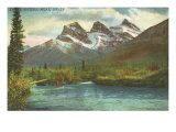Three Sisters, Near Banff, Alberta Posters