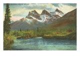 Three Sisters, Near Banff, Alberta Posters