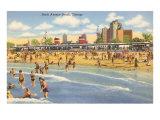 North Avenue Beach, Chicago, Illinois Kunstdruck