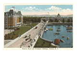 Empress Hotel and Parliament Buildings, Victoria, B.C. Posters