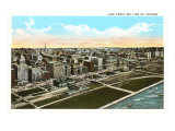 Lake Front Skyline, Chicago, Illinois Posters