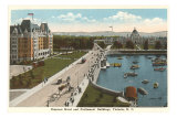 Empress Hotel and Parliament Buildings, Victoria, B.C. Photo