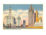 Wrigley Building and Tribune Tower, Chicago, Illinois Posters