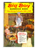 Big Boy Barbecue Book, Book Cover Print