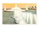 Fountain, Chicago World's Fair Print