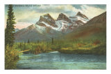 Three Sisters, Near Banff, Alberta Poster