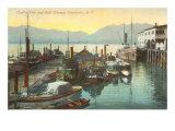 Wharf, Vancouver, British Columbia Posters