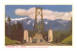Lions Gate Bridge, Vancouver, British Columbia Prints