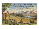 Howdy from Colorado, Mountain Man Print