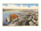 Vancouver Harbor, British Columbia Print