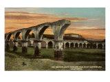 Arches, San Juan Capistrano Mission, California Print
