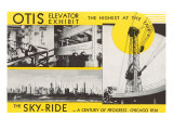 Elevator and Sky Ride, Chicago World's Fair Print