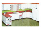Kitchen with Red Formica Counters Posters
