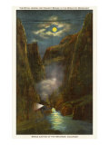 Night View of Royal Gorge, Colorado Posters