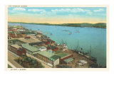 Quebec Harbor Poster