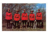 Canadian Mounties with Dogs Print