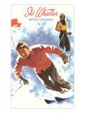 Ski Whistler, BC, Canada Print