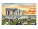 Sunset, Cheesman Park, Denver, Colorado Kunstdruck