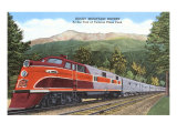 Rocky Mountain Rocket Train Print