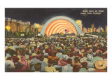 Band Shell by Night, Grant Park, Chicago, Illinois Poster
