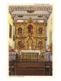 Altar in Serra Chapel, San Juan Capistrano Mission, California Posters