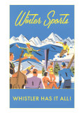 Ski Whistler, BC, Canada Posters