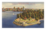 Aerial View of Vancouver, British Columbia Posters