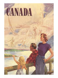 Canada Family on Bridge Posters