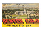 Peaks Surrounding Denver, Colorado Posters