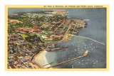 Aerial View of Monterey Bay, California Posters