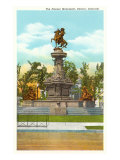 Pioneer Monument, Denver, Colorado Poster