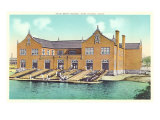 Yale Boat House, New Haven, Connecticut Print