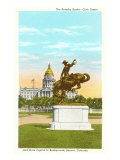 Bronco Buster Statue, State Capitol, Denver, Colorado Posters