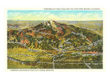 Panorama of Pike's Peak Region, Colorado Print