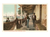 Old Custom House Porch, Monterey, California Print
