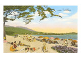 The Beach at Carmel Poster