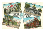 Views of Yale, New Haven, Connecticut Print