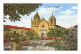 Mission San Carlos, Carmel, Californie Posters