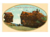 Steamboat Rock and Balanced Rock, Colorado Print