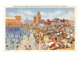 Beach and Municipal Auditorium, Long Beach, California Posters